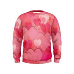 Hearts Pink Background Kids  Sweatshirt