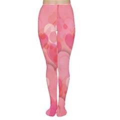 Hearts Pink Background Women s Tights