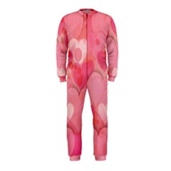 Hearts Pink Background OnePiece Jumpsuit (Kids)