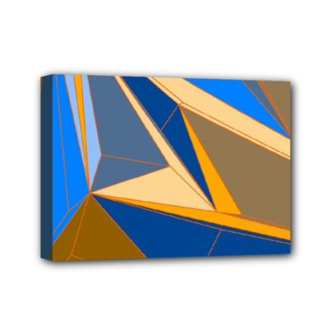 Abstract Background Pattern Mini Canvas 7  X 5