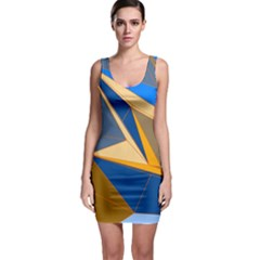 Abstract Background Pattern Sleeveless Bodycon Dress
