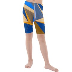 Abstract Background Pattern Kids  Mid Length Swim Shorts