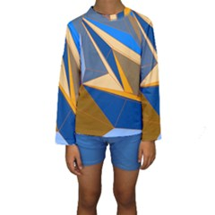 Abstract Background Pattern Kids  Long Sleeve Swimwear