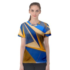 Abstract Background Pattern Women s Sport Mesh Tee