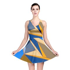 Abstract Background Pattern Reversible Skater Dress
