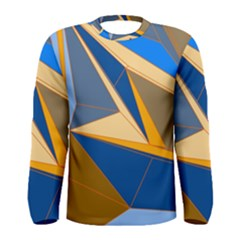 Abstract Background Pattern Men s Long Sleeve Tee