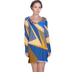 Abstract Background Pattern Long Sleeve Nightdress
