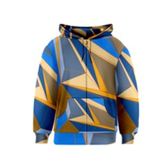 Abstract Background Pattern Kids  Zipper Hoodie