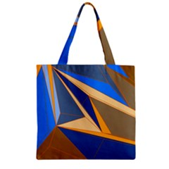 Abstract Background Pattern Zipper Grocery Tote Bag