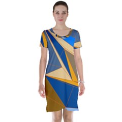 Abstract Background Pattern Short Sleeve Nightdress
