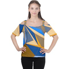 Abstract Background Pattern Women s Cutout Shoulder Tee