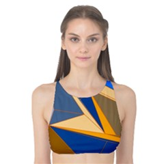 Abstract Background Pattern Tank Bikini Top