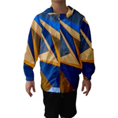 Abstract Background Pattern Hooded Wind Breaker (kids)