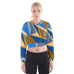 Abstract Background Pattern Women s Cropped Sweatshirt