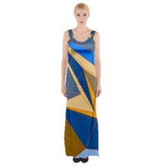Abstract Background Pattern Maxi Thigh Split Dress