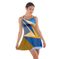 Abstract Background Pattern Cotton Racerback Dress