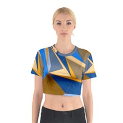 Abstract Background Pattern Cotton Crop Top