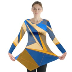 Abstract Background Pattern Long Sleeve Tunic