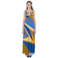 Abstract Background Pattern Empire Waist Maxi Dress
