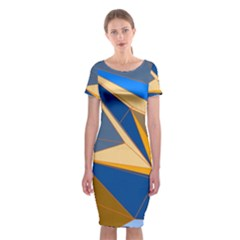 Abstract Background Pattern Classic Short Sleeve Midi Dress