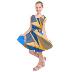 Abstract Background Pattern Kids  Short Sleeve Dress