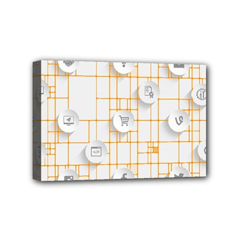 Icon Media Social Network Mini Canvas 6  X 4