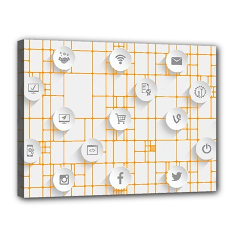Icon Media Social Network Canvas 16  X 12
