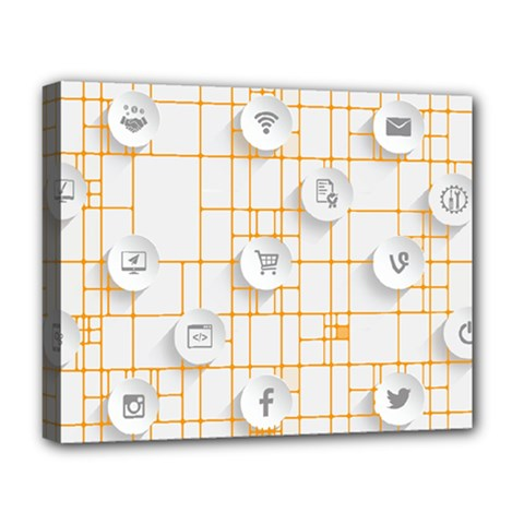 Icon Media Social Network Deluxe Canvas 20  X 16