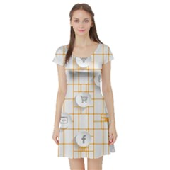 Icon Media Social Network Short Sleeve Skater Dress