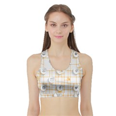 Icon Media Social Network Sports Bra With Border