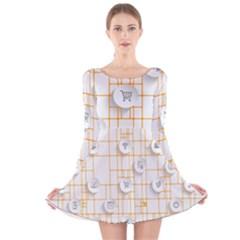 Icon Media Social Network Long Sleeve Velvet Skater Dress