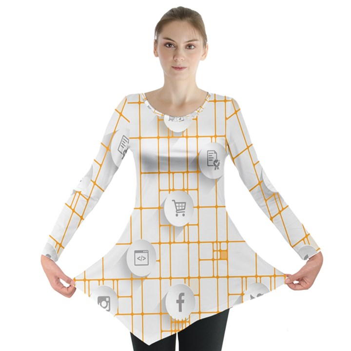 Icon Media Social Network Long Sleeve Tunic