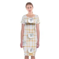 Icon Media Social Network Classic Short Sleeve Midi Dress