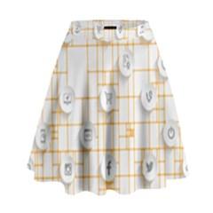 Icon Media Social Network High Waist Skirt