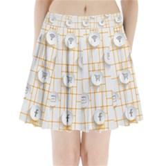Icon Media Social Network Pleated Mini Skirt