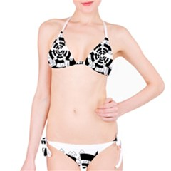Arrows Top Below Circuit Parts Bikini Set