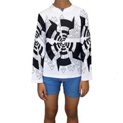 Arrows Top Below Circuit Parts Kids  Long Sleeve Swimwear