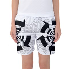 Arrows Top Below Circuit Parts Women s Basketball Shorts