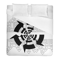 Arrows Top Below Circuit Parts Duvet Cover (full/ Double Size)