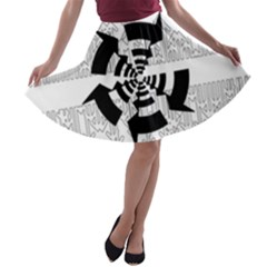 Arrows Top Below Circuit Parts A-line Skater Skirt