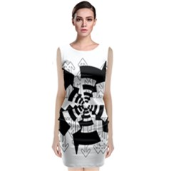 Arrows Top Below Circuit Parts Classic Sleeveless Midi Dress