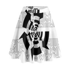 Arrows Top Below Circuit Parts High Waist Skirt