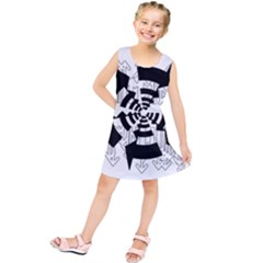 Arrows Top Below Circuit Parts Kids  Tunic Dress