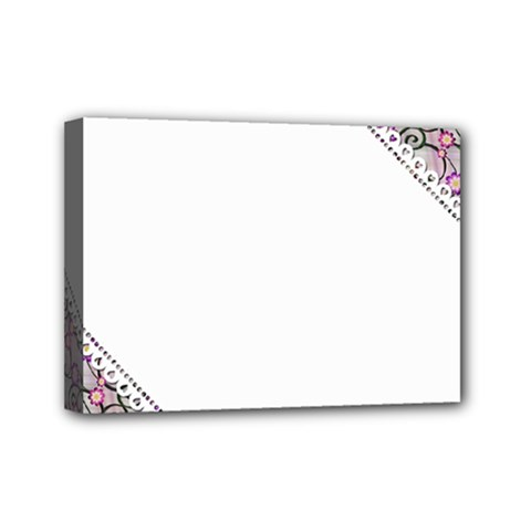 Floral Ornament Baby Girl Design Mini Canvas 7  X 5