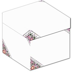 Floral Ornament Baby Girl Design Storage Stool 12