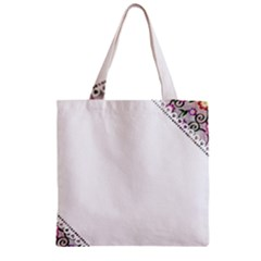Floral Ornament Baby Girl Design Zipper Grocery Tote Bag