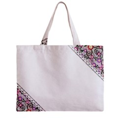 Floral Ornament Baby Girl Design Zipper Mini Tote Bag