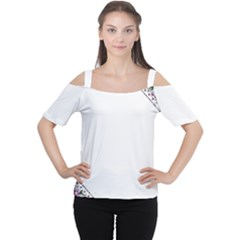 Floral Ornament Baby Girl Design Women s Cutout Shoulder Tee