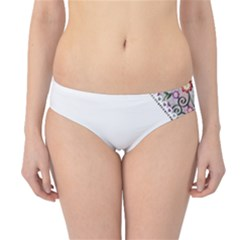 Floral Ornament Baby Girl Design Hipster Bikini Bottoms