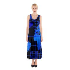 Network Networking Europe Asia Sleeveless Maxi Dress